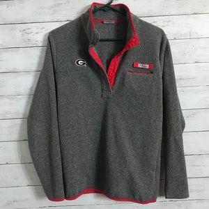 UGA Columbia Fleece 1/4 Zip Pull Over